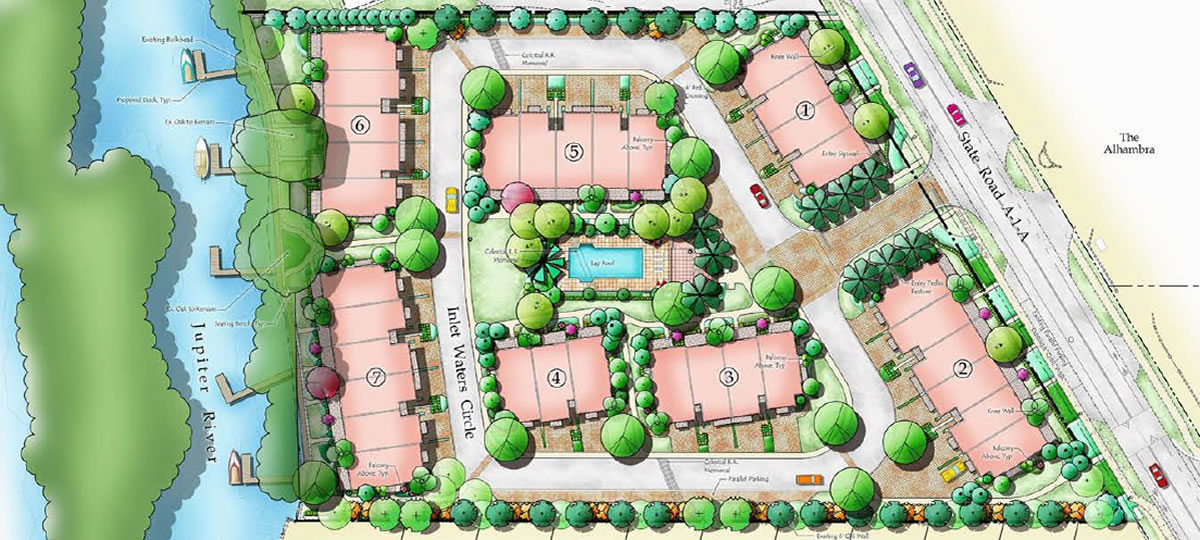 Inlet Waters Townhomes site layout