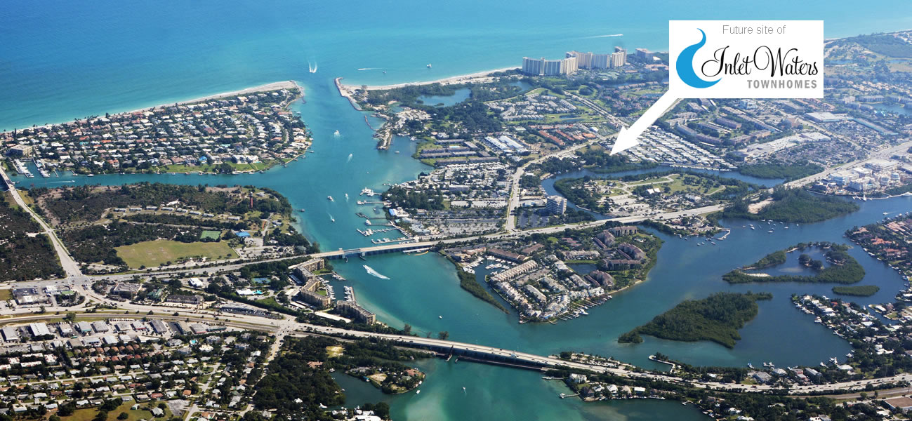 Aerial view of Jupiter, Florida. Photo by Don Ramey Logan - Own work, CC BY-SA 4.0