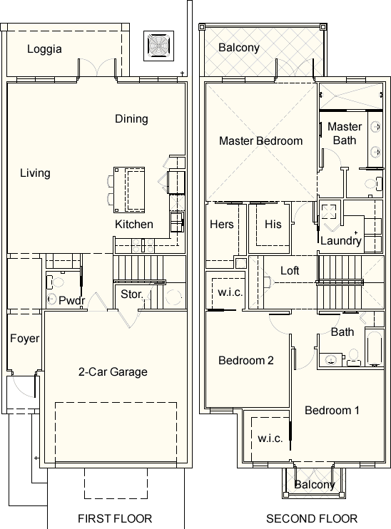 Townhouse floor plan for core unit